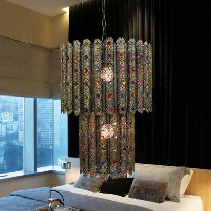 European Pierced Design Chandelier Exotic Light Pendant Restaurants Bedroom Tiffany_Light Living Room Decorative Tiffany_Lamp(China (Mainland))