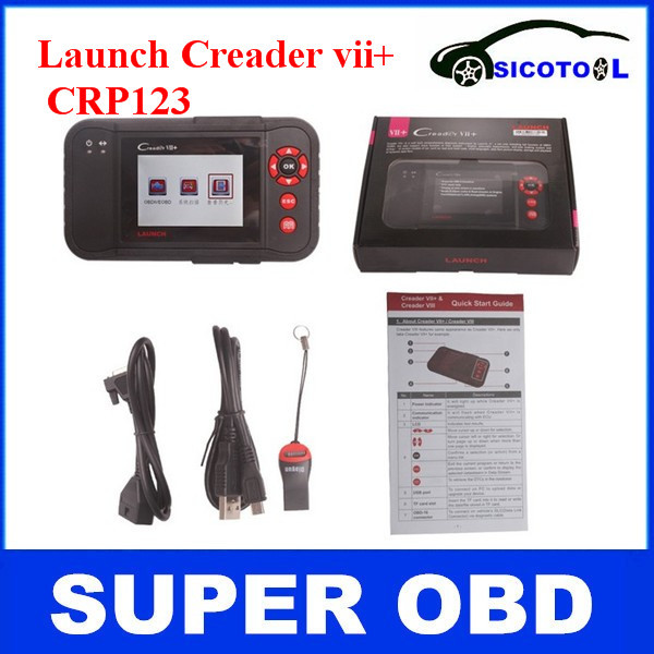 LAUNCH Creader Update online Professional Creader vii+ Original Auto Code Reader Scanner LAUNCH Creader 7+(China (Mainland))