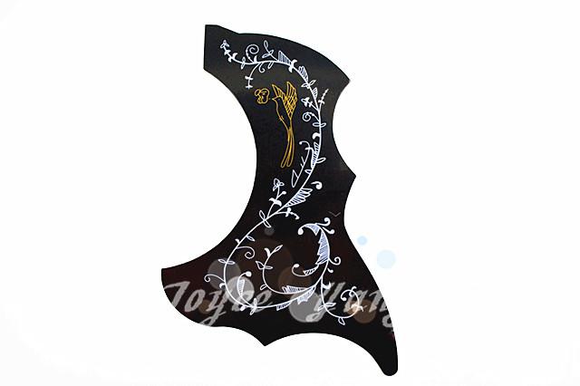 Hummingbird Acoustic Guitar Pickguard Black Peel and Stick Adhesive Back Guitar Necessities Free Shipping Wholesales(China (Mainland))