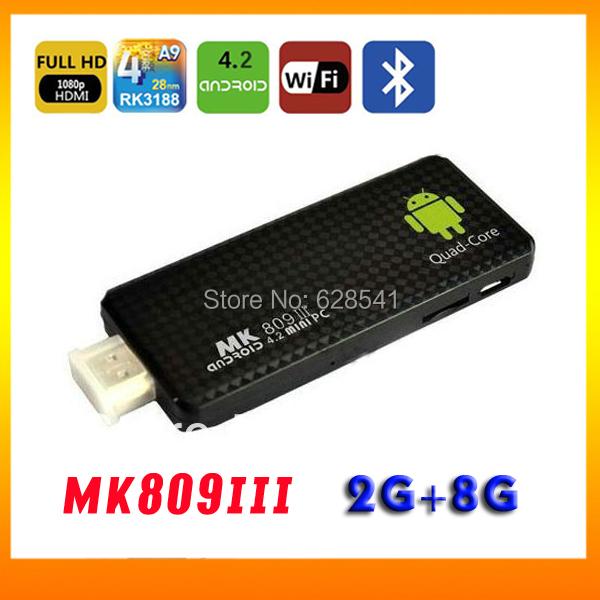 stock! MK809III Quad Core MINI pc Android 4.2 RK3188 1.6GHz RAM 2GB ROM 8GB Bluetooth 4.0 HDMI WIFI Smart TV Box  -  Firetu Co.,LTD store
