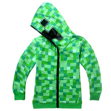 Spring/Autumn Kid Long-Sleeved Cartoon Hoodies Boys 6-14 Years Clothing Kids Cotton Top Kids Green High quality cotton clothes(China (Mainland))