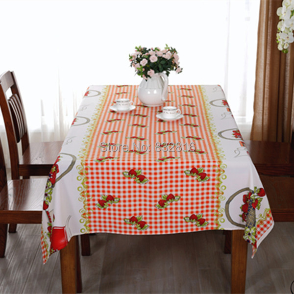 Kitchen Printed Table Cover Rectangular Polyester Outdoor Dining Tablecloth Party Table Cloths 140X240CM/140X180CM(China (Mainland))