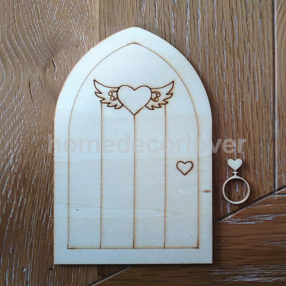 10pcs wood shapes scrapbooking embellishment laser cut for Fairy door shapes