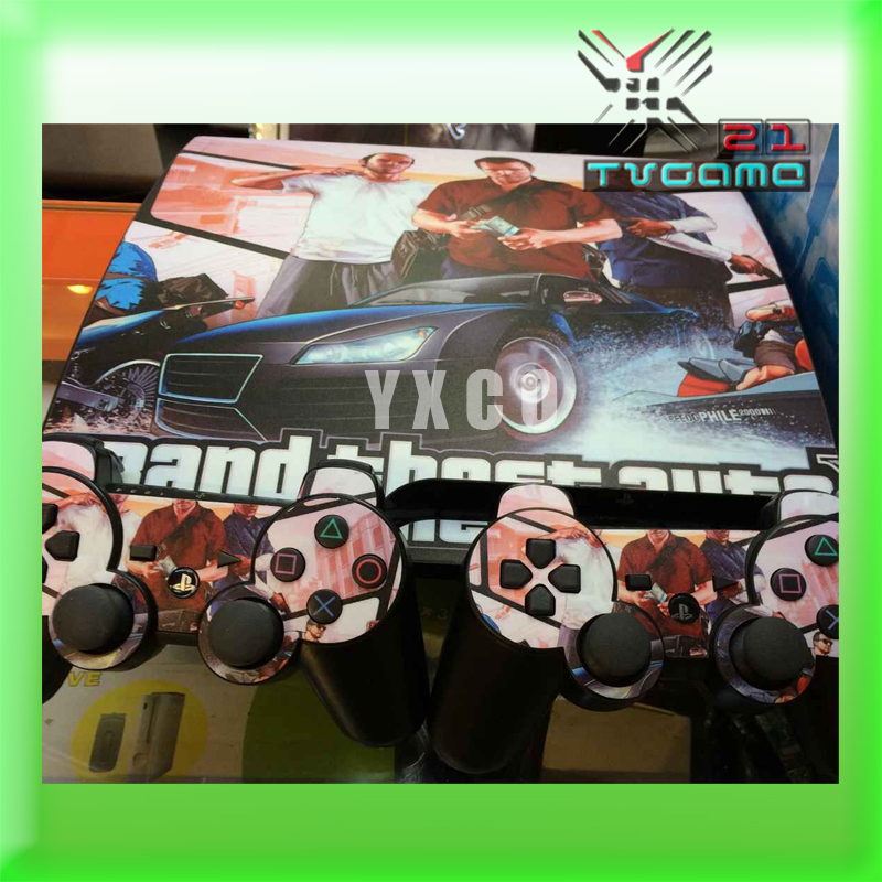 High Quality Classic Style UV Carbon Fiber Controller Skin Console Stickers For PS3 Protective Skin(China (Mainland))