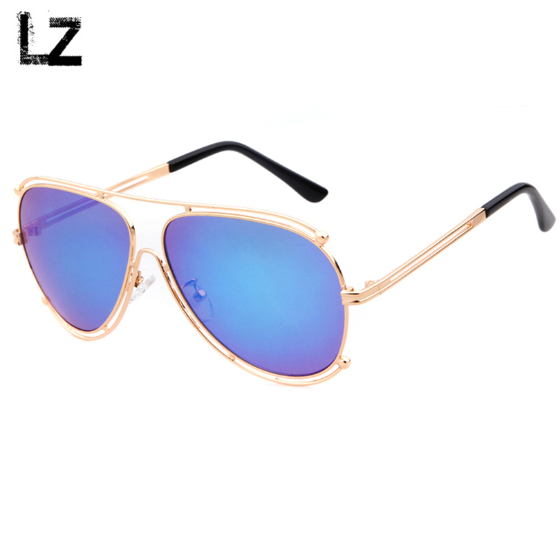 Luxury Aviator Sunglasses Flat top Oversized Hipster Metal ...