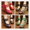 Free shipping national wind cloth shoes Chinese wind fine embroidered linen cool slippers summer and spring woman's shoes