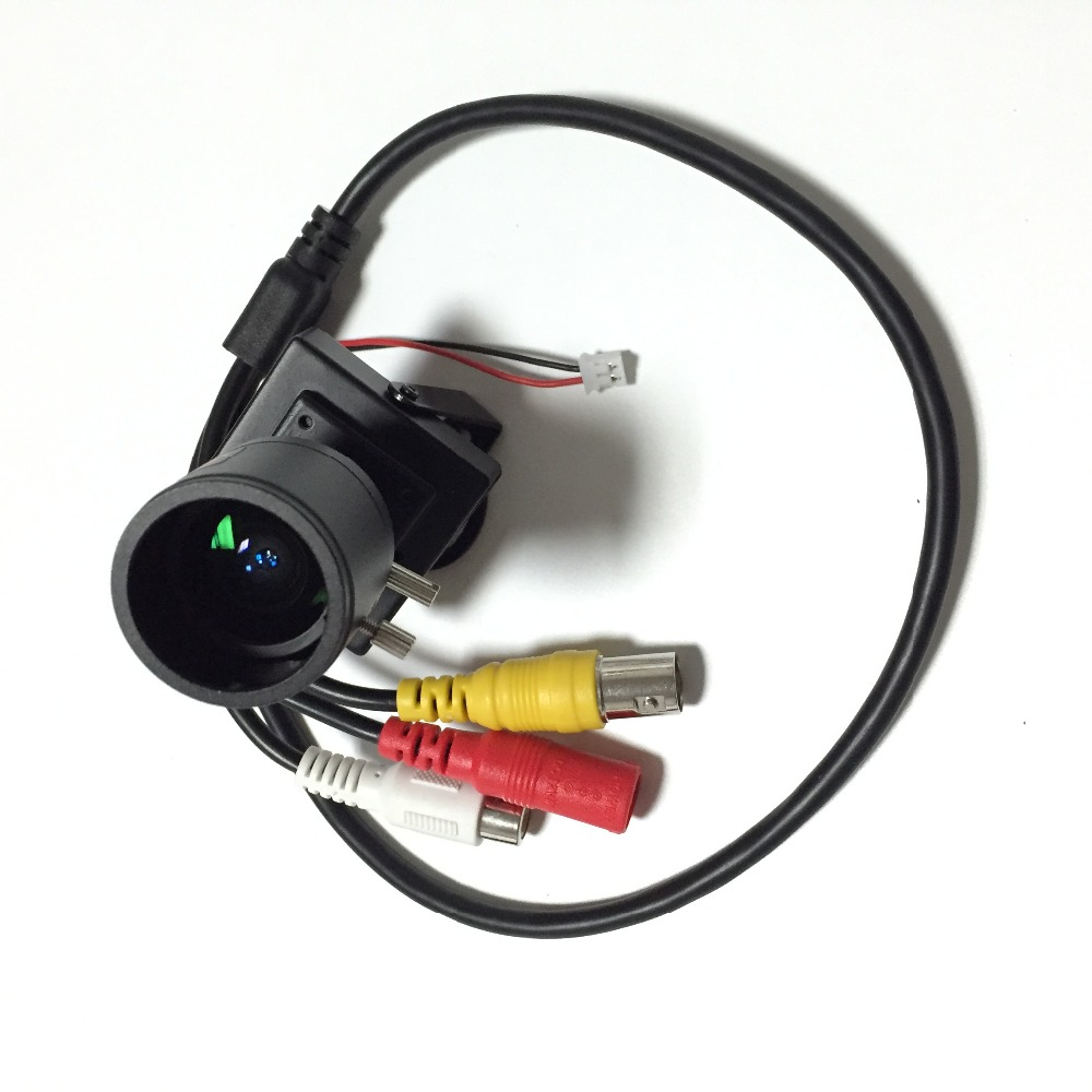 1/3inch CMOS 700TVL 2.8-12mm Manual Focus Zoom Lens CCTV Security Audio Camera Mic