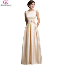 Elegante 2015 nuovo disegno abiti de fiesta grazia karin lungo vestiti da partito di fidanzamento per il vestito da promenade abiti de bal CL7539(China (Mainland))