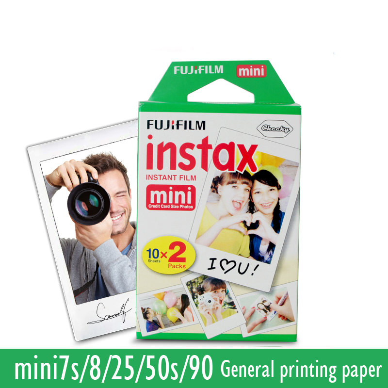 20Pcs Fujifilm Instax Mini film for Instant Camera mini 8 7s 25 50s 90 White Edge 3 inch film Photo Paper gift with retail box(China (Mainland))