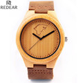 REDEAR1413 antique wood materials manufacturing men s watch quartz watch leisure leather strap watch watch of