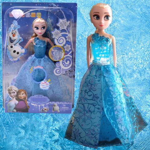30cm Elsa Princess Music BJD Doll Singing Let it go LED Light Boneca Baby Learning Machine Juguetes Girl Kids Electric brinquedo(China (Mainland))