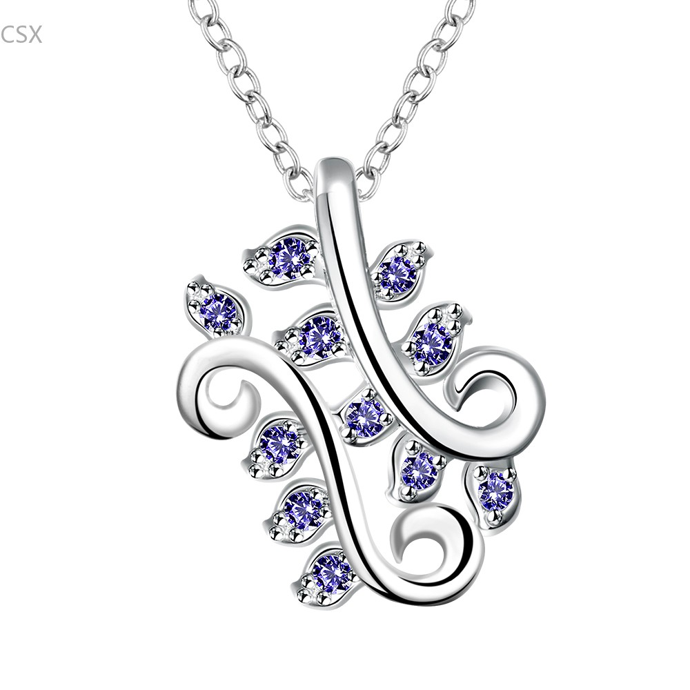 2015 Crystal Necklaces Pendant Silver Plated Jewerly 2015 Necklace Women Cheap Fashion Jewelry Wholesale 58(China (Mainland))