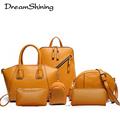 DreamShining 2016 New Arrival 6 Set Leather Handbags Women Office Bag Composite Women Bag Designer Handbag