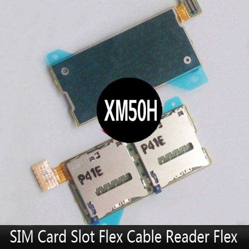 Repair part For Sony Xperia T2 Ultra XM50h Dual Single SIM Card Reader Tray Slot Holder With Flex Cable Ribbon Free Shipping(China (Mainland))
