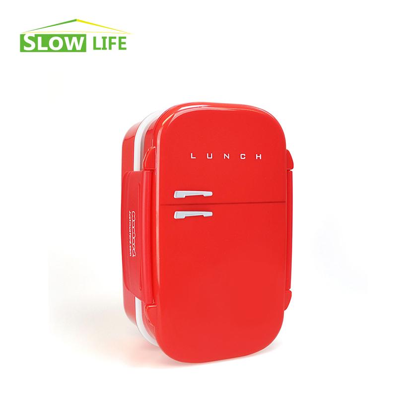 hot creative red fridge box japanese bento lunch box for kids lunchbox food c. Black Bedroom Furniture Sets. Home Design Ideas
