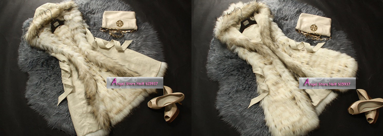 2015 New Fashion Long Warm Winter Luxurious Natural Soft SheepSkin Real Whole Raccoon Fur Vest Reversible coat - Angel Shopping Mall store