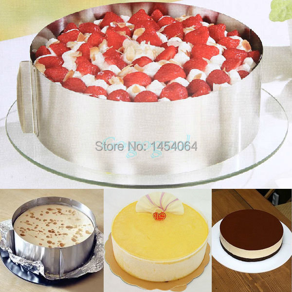 Adjustable Layer Cake Slicer Kit Mousse Mould Slicing Cake Setting Ring Home DIY Free shipping(China (Mainland))