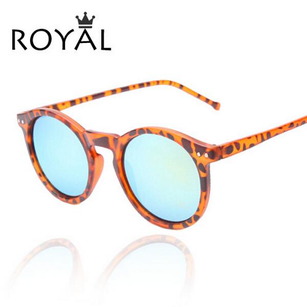 2015 New Sunglasses Women Classic Round Shaped Sun Shades glasses Men Mirrored Gradient Sun Glasses