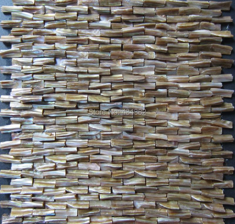 Groothandel 3D parelmoer tegel, decoratieve shell mozaïeken ...