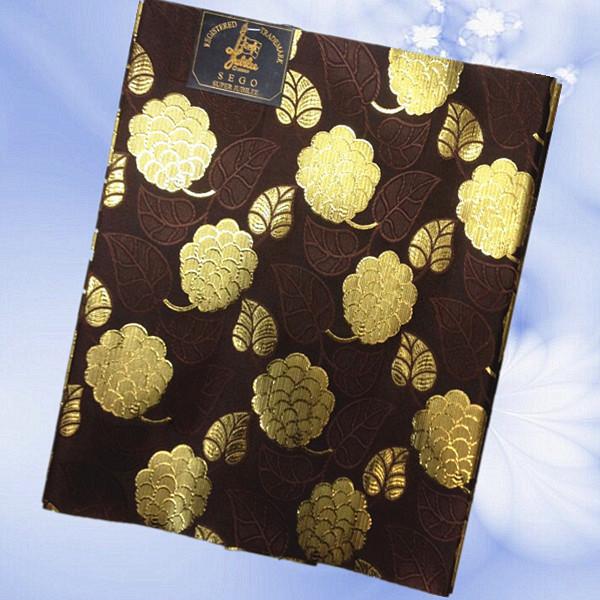 2015 African Sego headtie, Gele&Ipele,Head Tie & Wrapper, 2pcs/set HT26-9 dark+gold flower color!(China (Mainland))
