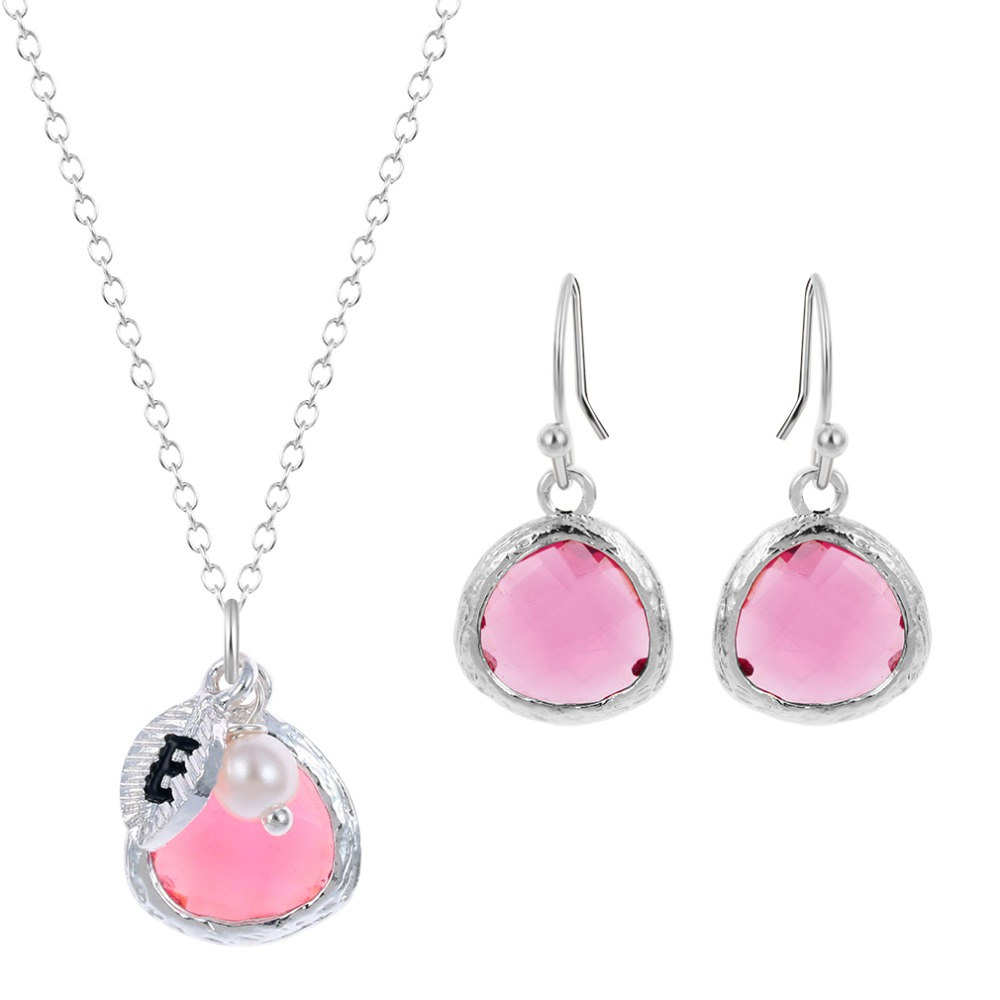 wedding jewelry sets pink stone necklace candy color resin ForPink Wedding Jewelry Sets