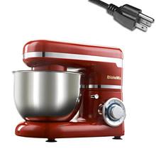 Tigela de Aço Inoxidável 1200 w 6 4L-velocidade Cozinha do Agregado Familiar de Alimentos Batedeira Elétrica Ovo Whisk Dough Liquidificador o Creme aparelho(China)