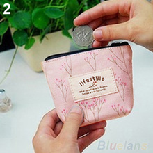 Women s Lady Small Canvas Purse Zip Wallet Coin Key Holder Case Bag Handbag 05T9