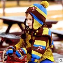 New Winter Plane Children Skullies & Beanies Scarf Hat Set Baby Boys Girls Knitted Kids Hats & Caps Wholesale #1014(China (Mainland))