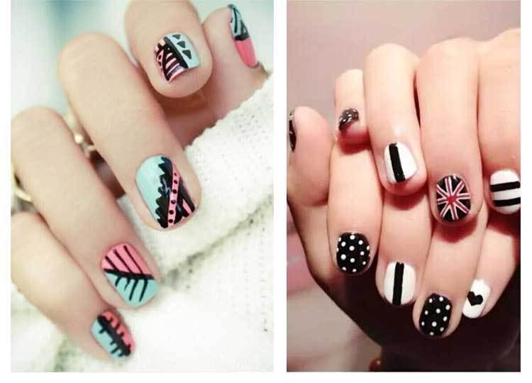 16 цветов ногтей искусство перо для