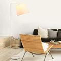 Modern Floor Lamp For Living Room Bedroom Foyer Standing Light Iron Fabric White Black Lampshade Decor