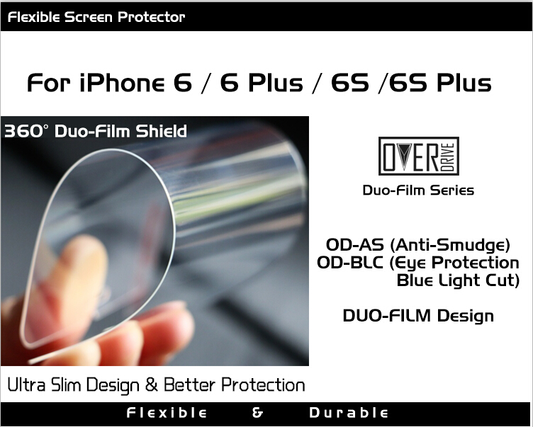 OD Duo-Film Tempered Glass Screen Protector IPhone 6 6s Flex Brand New Design Anti Blue Light Explosion - OverDrive Technology Co., Ltd. store