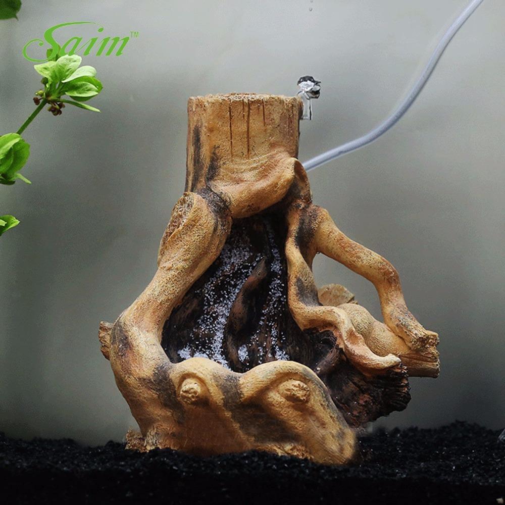 China aquarium fish tank price - 7 5 Saim Resin Stylish Driftwood Aquarium Fish Tank Tree Root Decoration Quick Sand Landscape Ornament