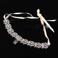 Amount upscale bridal crystal jewelry luxury marriage ribbon headband wedding hair accessories hair ornaments