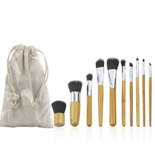 10Pcs/set ECO-friendly Beautiful Women Girl Professional Cosmetic Makeup Brushes Set Kits with bag