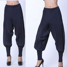 FREE SHIPPING Miyake pleated trousers  autumn casual all-match personality IN STOCK(China (Mainland))