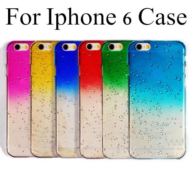 ! Fashion Phone Protective Shell Fresh 3D Raindrops Waterdrop Gradient Cases/Cover iphone 6 Case 4.7 inch iPhone6 6G - Milky Way Technology Co., Ltd. store