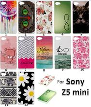 50pcs/lot Z5 Compact Cute Printer Pattern Ultra Thin TPU case, Soft Gel TPU Cell Phone case For Sony Xperia Z5 Compact Z5 mini(China (Mainland))