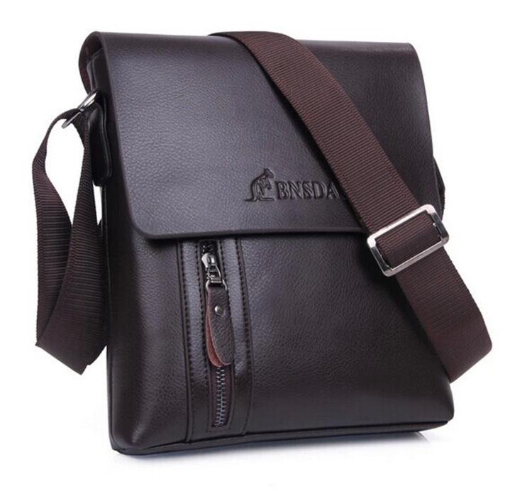 Business Portfolio Mens bag Leather Bag sac Bolsa Massager Messenger Cross Body Genuine Leather Bag Cheap Black 21*18*7cm(China (Mainland))