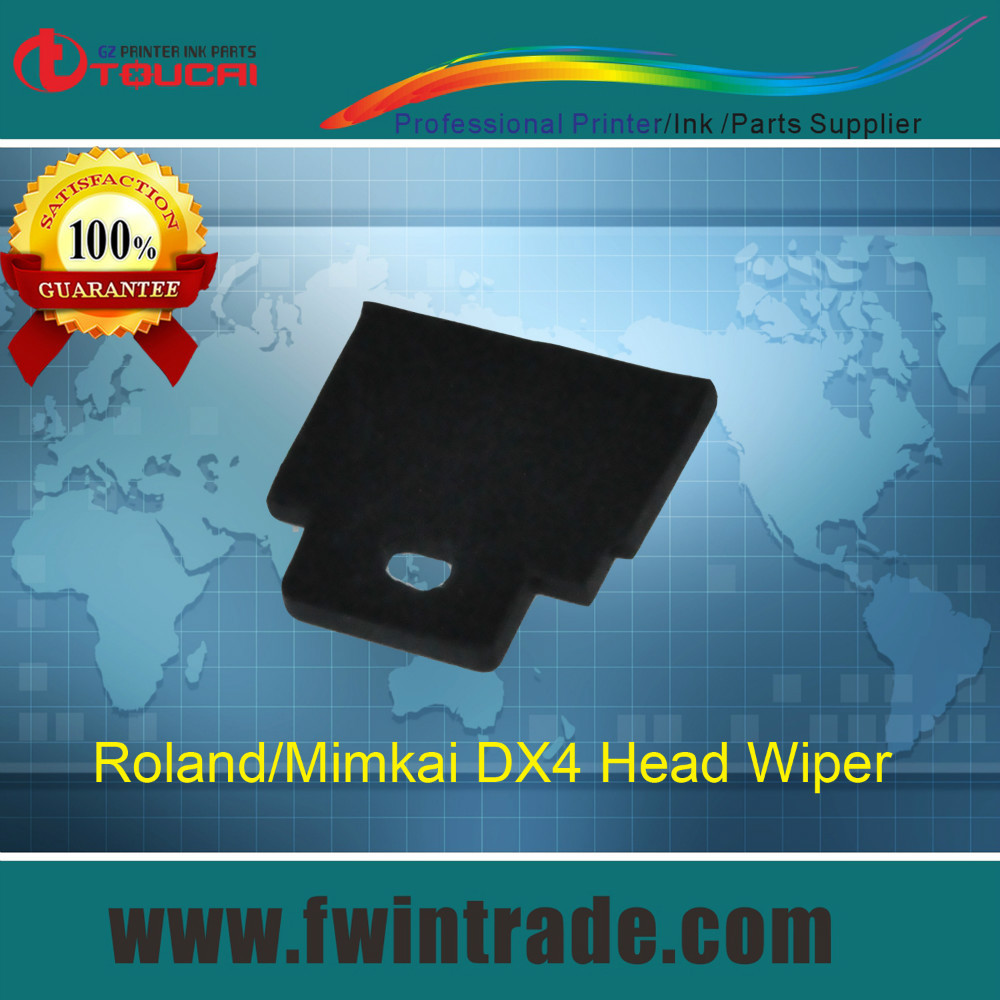 Best quality!!! 20pcs/lot dx4 printhead consumable parts roland printer wiper(China (Mainland))