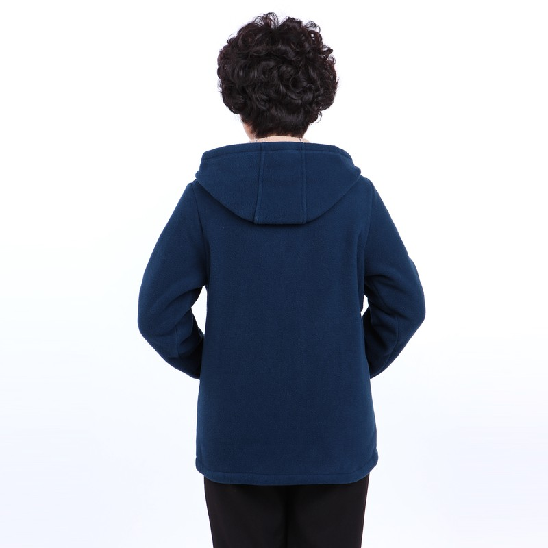 Winter Middle Aged Womens Hooded Imitation Lambs Fleece Jackets Ladies Warm Soft Velevt Coats Mother Overcoats Plus Size (26)
