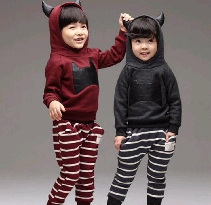 Spring autumn models 2pcs/set Kids children clothes boys girls suits Long Sleeve Shirt + Pant Sport Clothes Hoodies - Online Store 923589 store