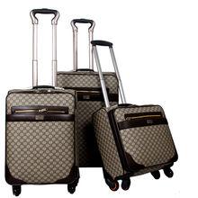 Pu valise bagages définit les femmes et les hommes sac sacs de voyage trolley les valises bagages à roulettes(China (Mainland))