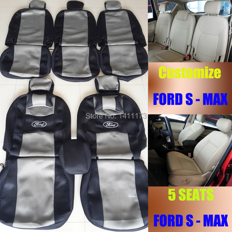 Custom car seats cover for FORD S MAX seat cover sets dedicated auto sandwich seats covers for car cushion set & headrest pillow(China (Mainland))