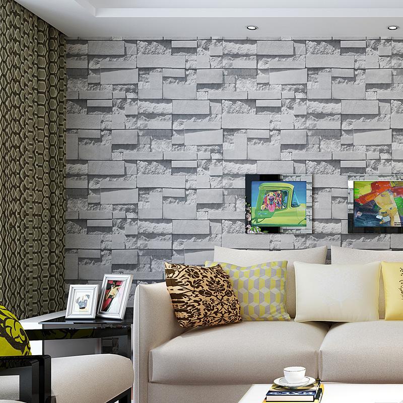 2015 new arrival living room vinyl wallpapers brick for Lounge wallpaper 2015