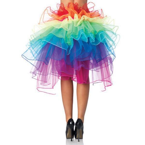 Розничная оптовая продажа красочный взрослых танцы туту многоуровневая из органзы кружева-up ну вечеринку юбку Clubwear