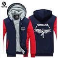 USA size Men Women Music Metallica Jacket Sweatshirts Thicken Hoodie Coat