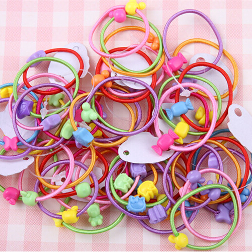New 5 PCS Candy Color Elastic Hair Bands Headwear Children Ring Rope Hair Styling Accessories(China (Mainland))