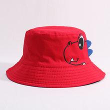 ไดโนเสาร์เด็กหมวกผ้าฝ้ายสองด้านหมวกเด็กฤดูใบไม้ผลิฤดูใบไม้ร่วงหมวกชายหาดกลางแจ้งหมวกเ...(China)