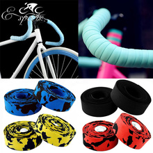 Hot Sale! 2015 New Arrival High Quality Colorful Cycling Handle Belt Bike Bicycle Cork Handlebar Tape Wrap +2 Bar MBI-33