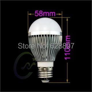 Topin E27 E26 8W LED Warm White Light Lamp Bulb Ultra Bright Energy Saving Lighting For Home Office Shop Use Free Shipping(China (Mainland))
